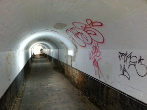 Tunnel before paint