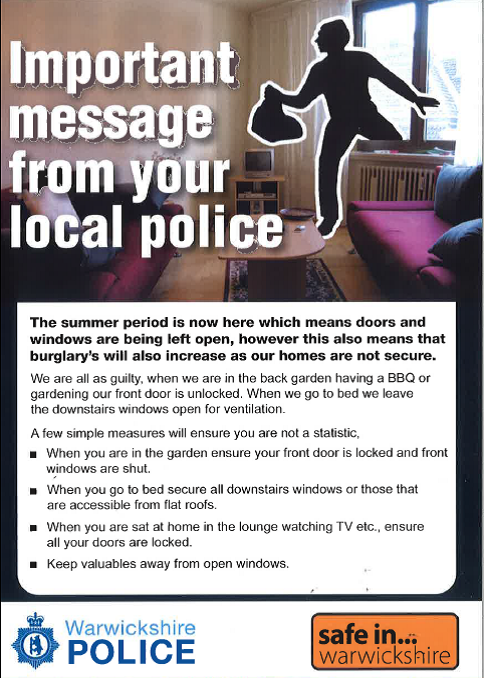 Beat The Criminals This Summer Safe In Warwickshire