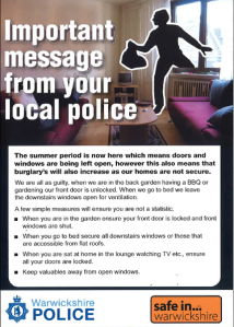 Summer Burglary Leaflet