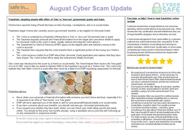 Cyber Crime – Safe In Warwickshire
